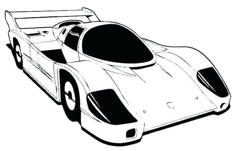 Car Racing Coloring Pages