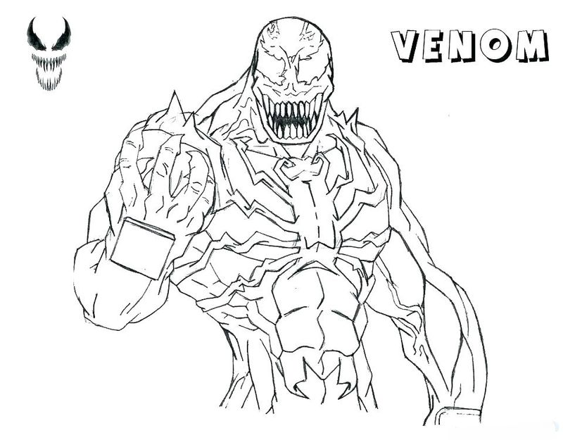 Carnage Venom Coloring Pages