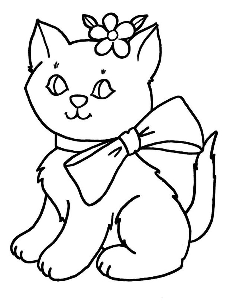 Cartoon Cat Coloring Pages