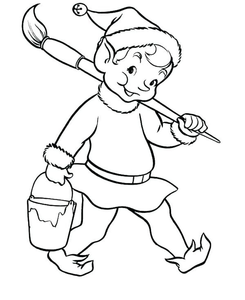 Cartoon Elf Coloring Pages