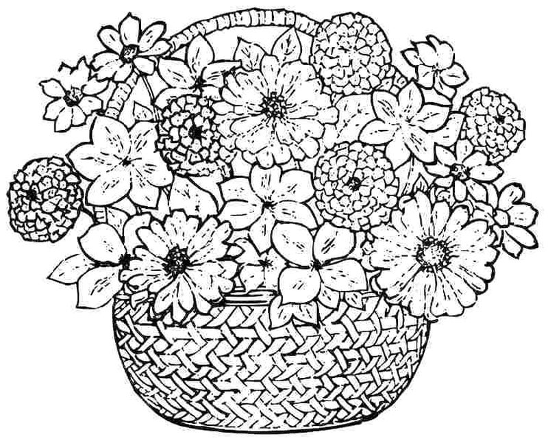 Cartoon Flowers Coloring Pages