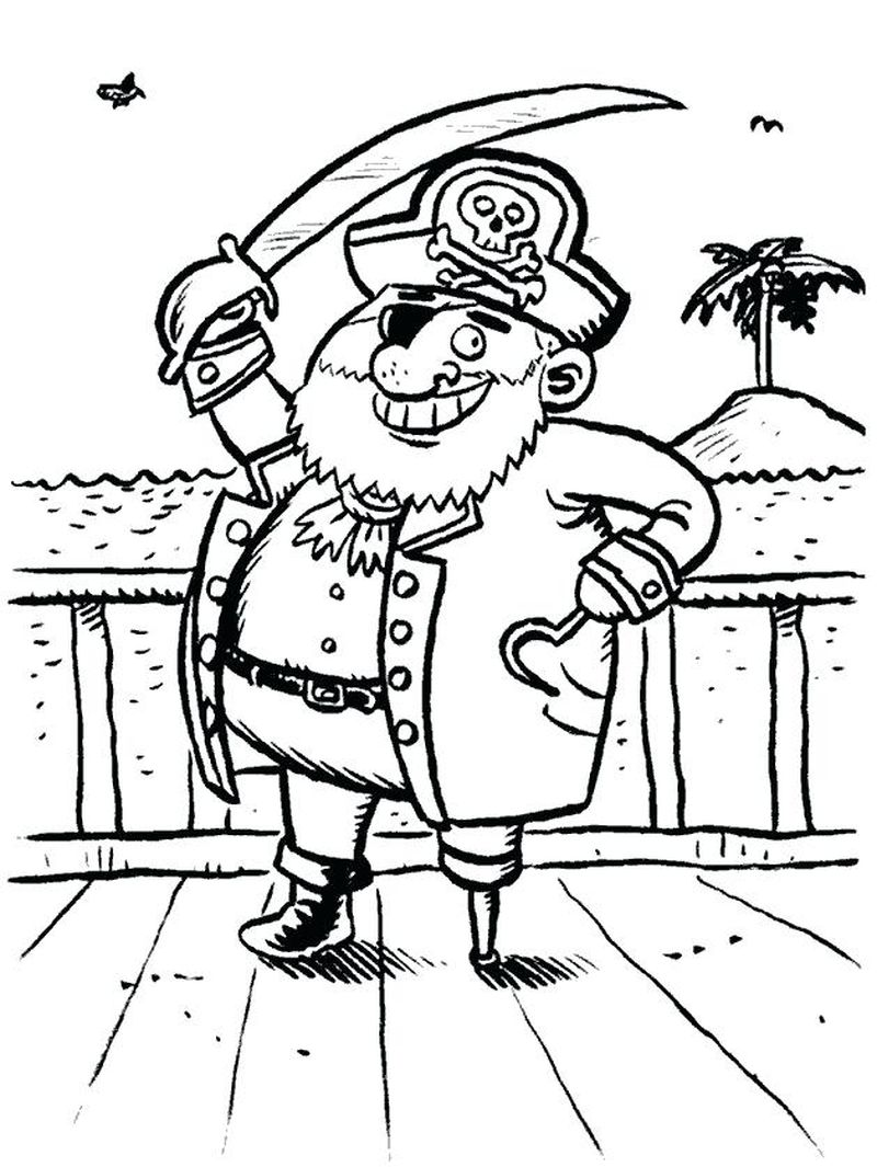 Cartoon Pirate Coloring Pages