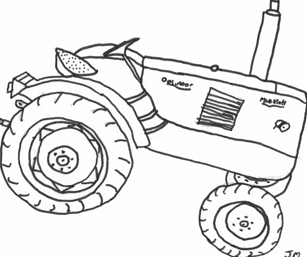 Cartoon Tractor Coloring Pages