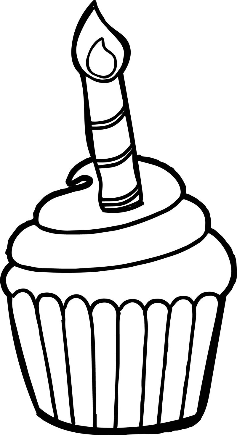Cat And Cupcake Coloring Pages