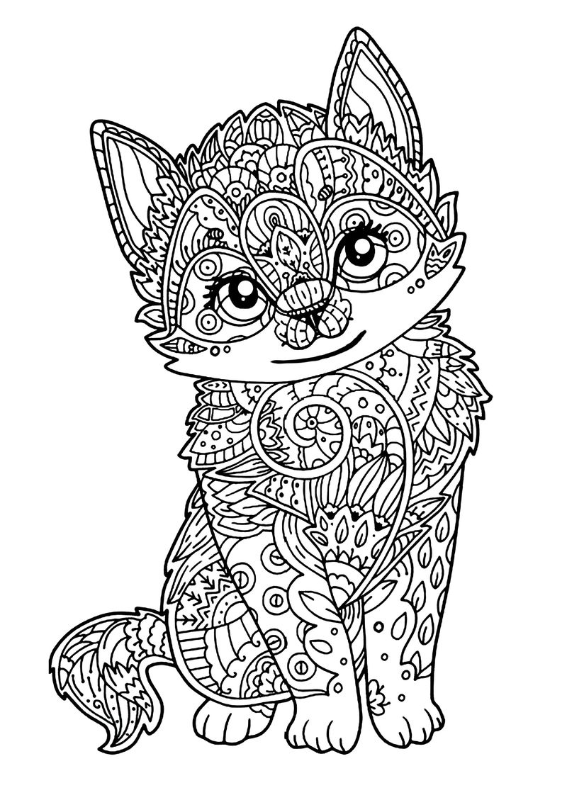 Cat Coloring Pages Free