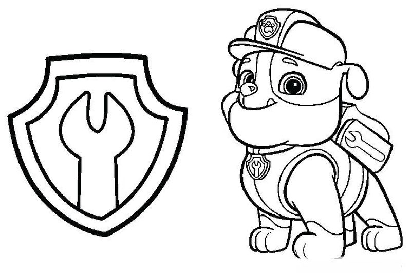 Chase Paw Patrol Car Coloring Page