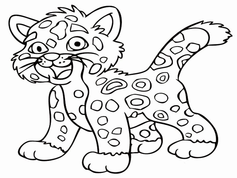 Cheetah Girl Coloring Pages