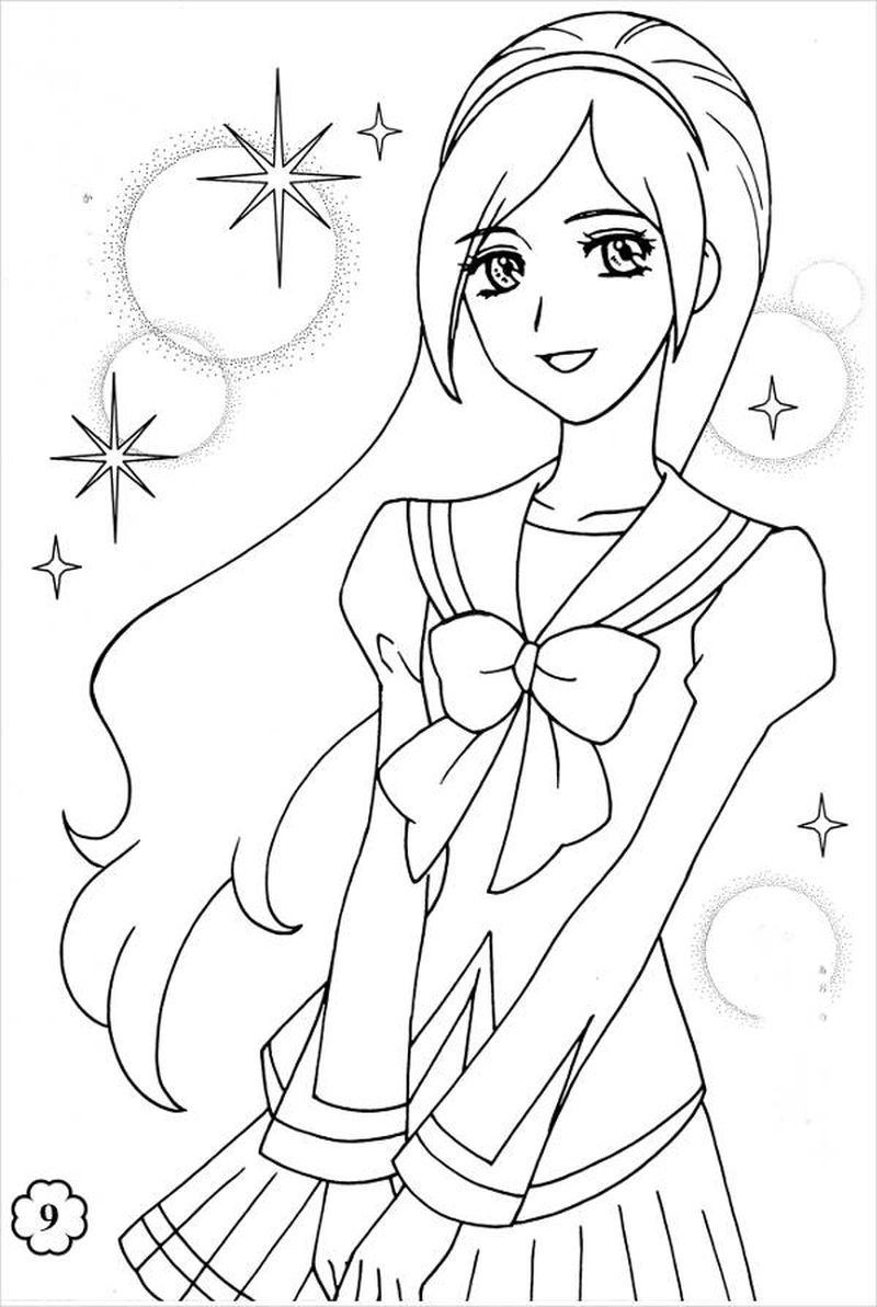 Chibi Anime Girl 3 Coloring Pages
