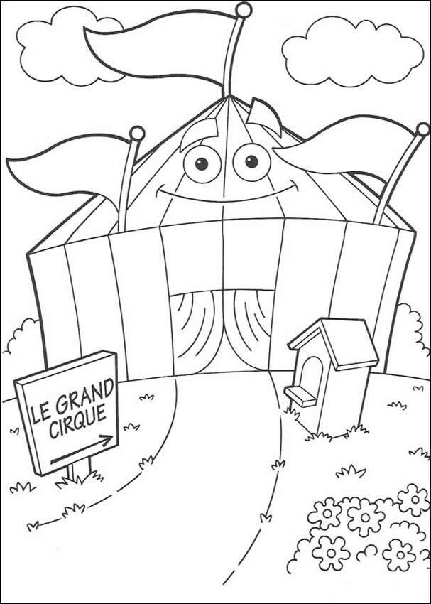 Childrens Circus Coloring Pages