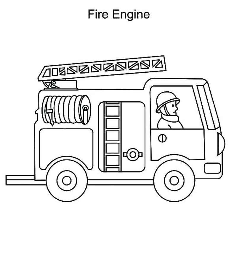 Childrens Fire Truck Coloring Pages