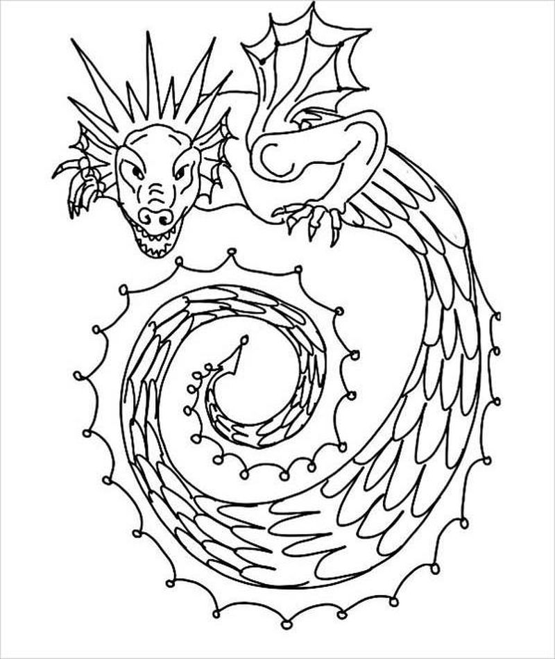 Chinese Dragon Coloring Page Free