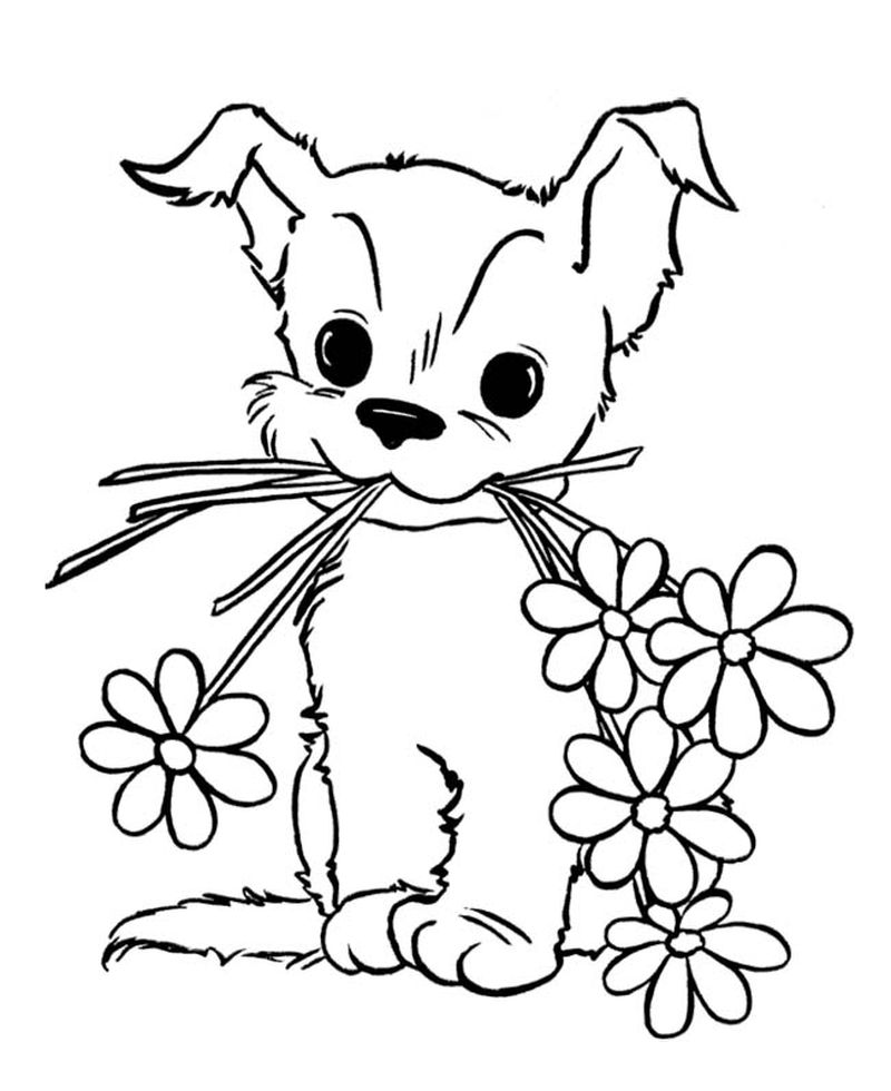 Chinese Flowers Coloring Pages
