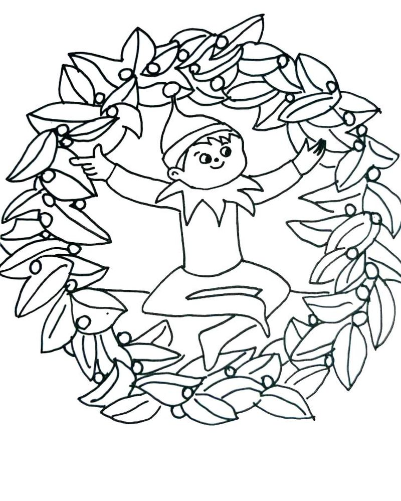 Chippy The Elf Coloring Pages