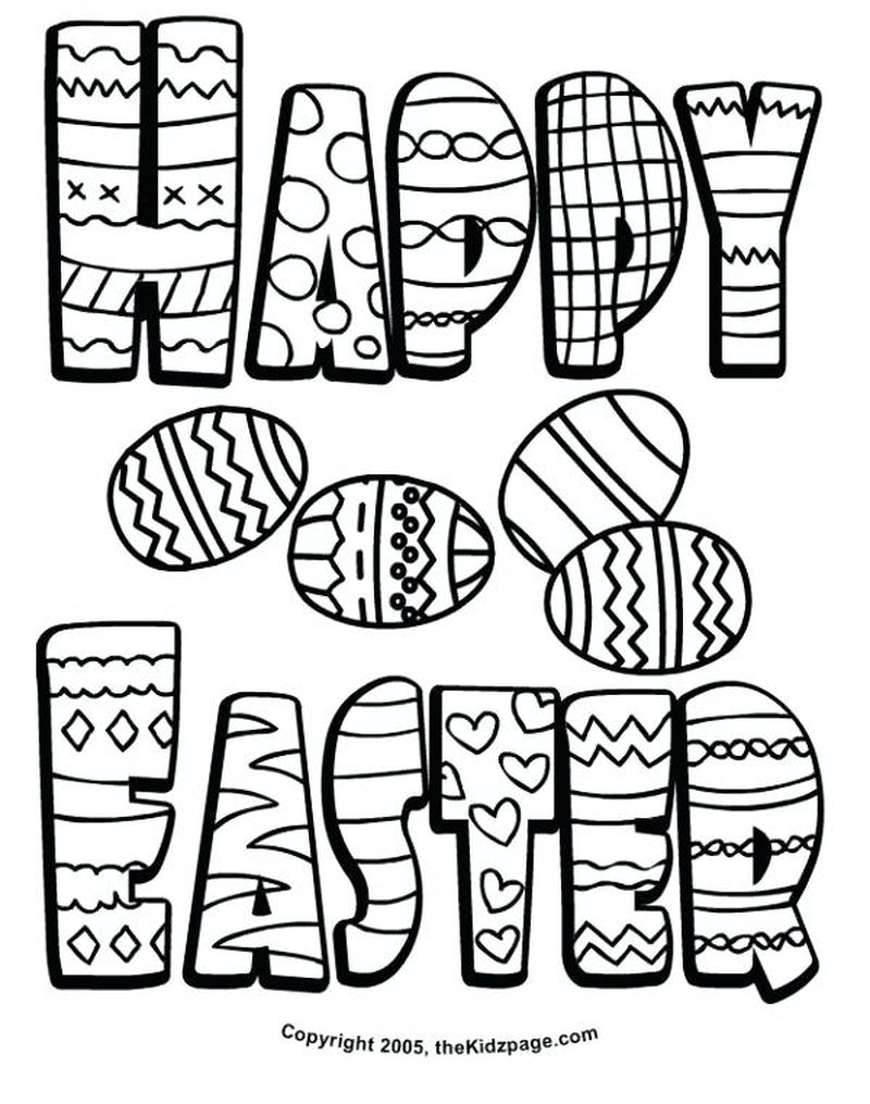 Chocolate Easter Bunny Coloring Pages