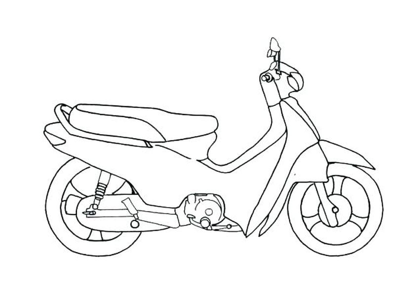 Chopper Motorcycle Coloring Pages
