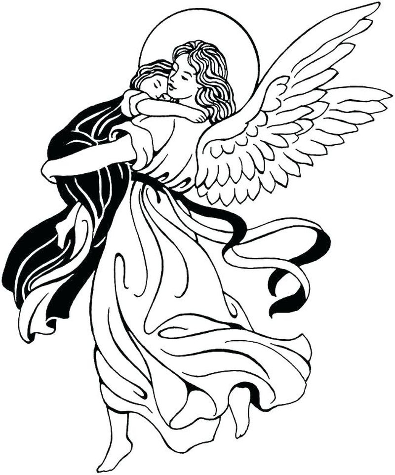 Christmas Angel Coloring Pages To Print