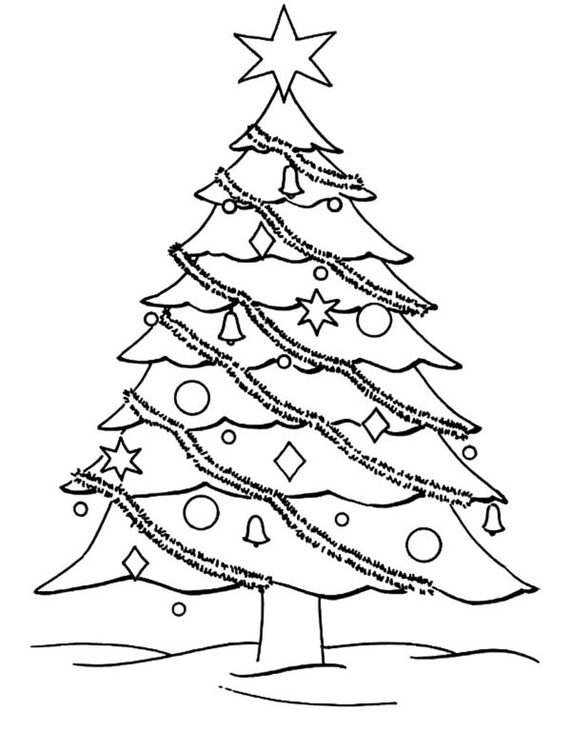Christmas Coloring Pages Christmas Tree