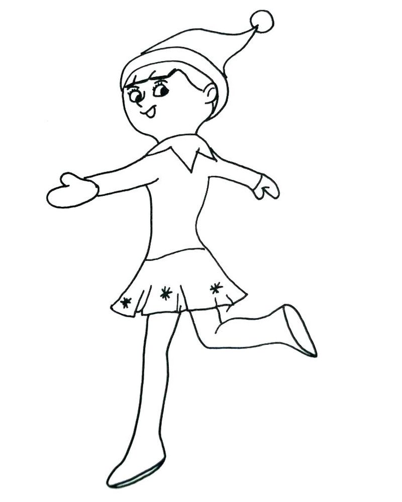 Christmas Coloring Pages Elf On The Shelf