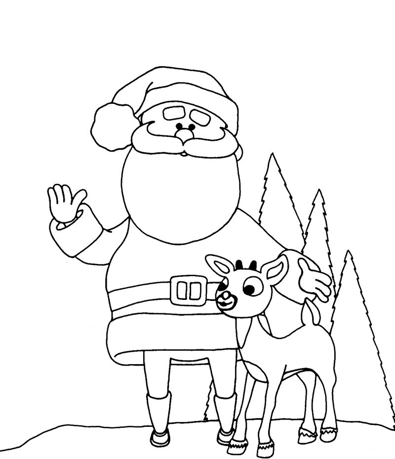 Christmas Coloring Pages Of Santa Claus