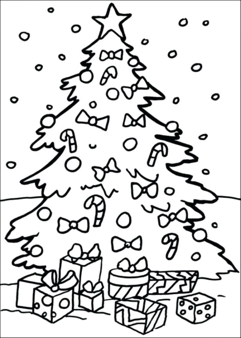 Christmas Coloring With Christmas Tree Pages For Toddlers