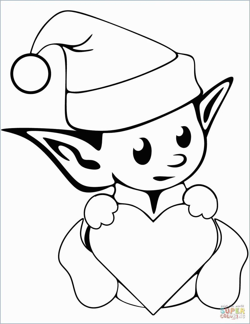 Christmas Elf Coloring Pages Free