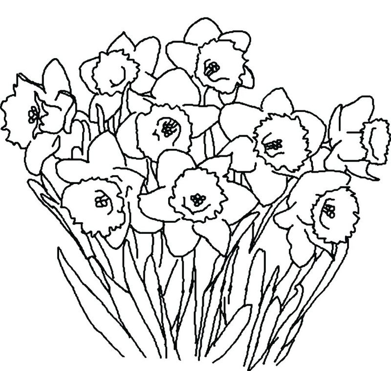 Christmas Flowers Printable Coloring Pages
