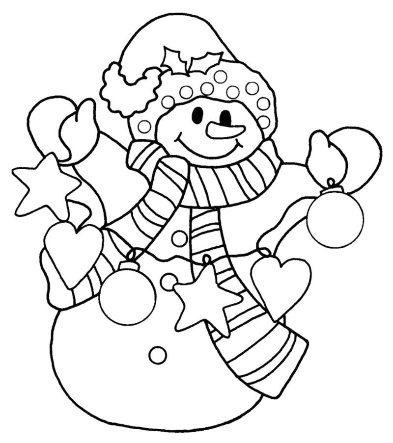 Christmas Snowman Coloring Pages For Adults