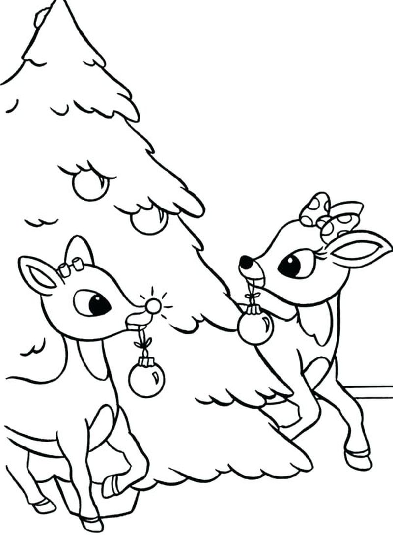 Christmas Tree Color By Number Coloring Pages