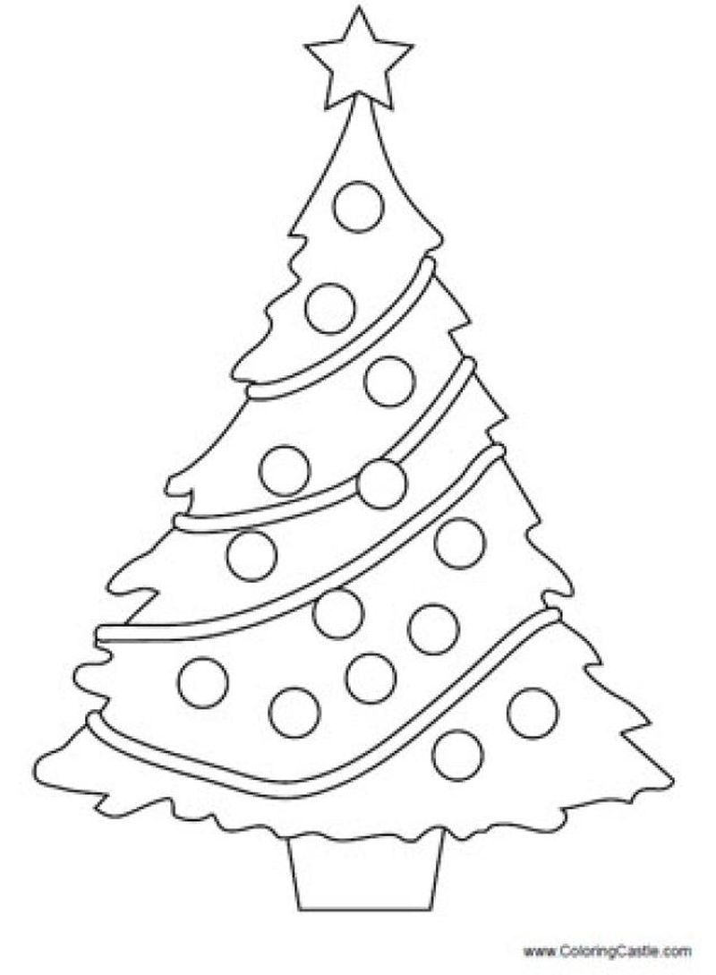 Christmas Tree Coloring By Number Pages Free