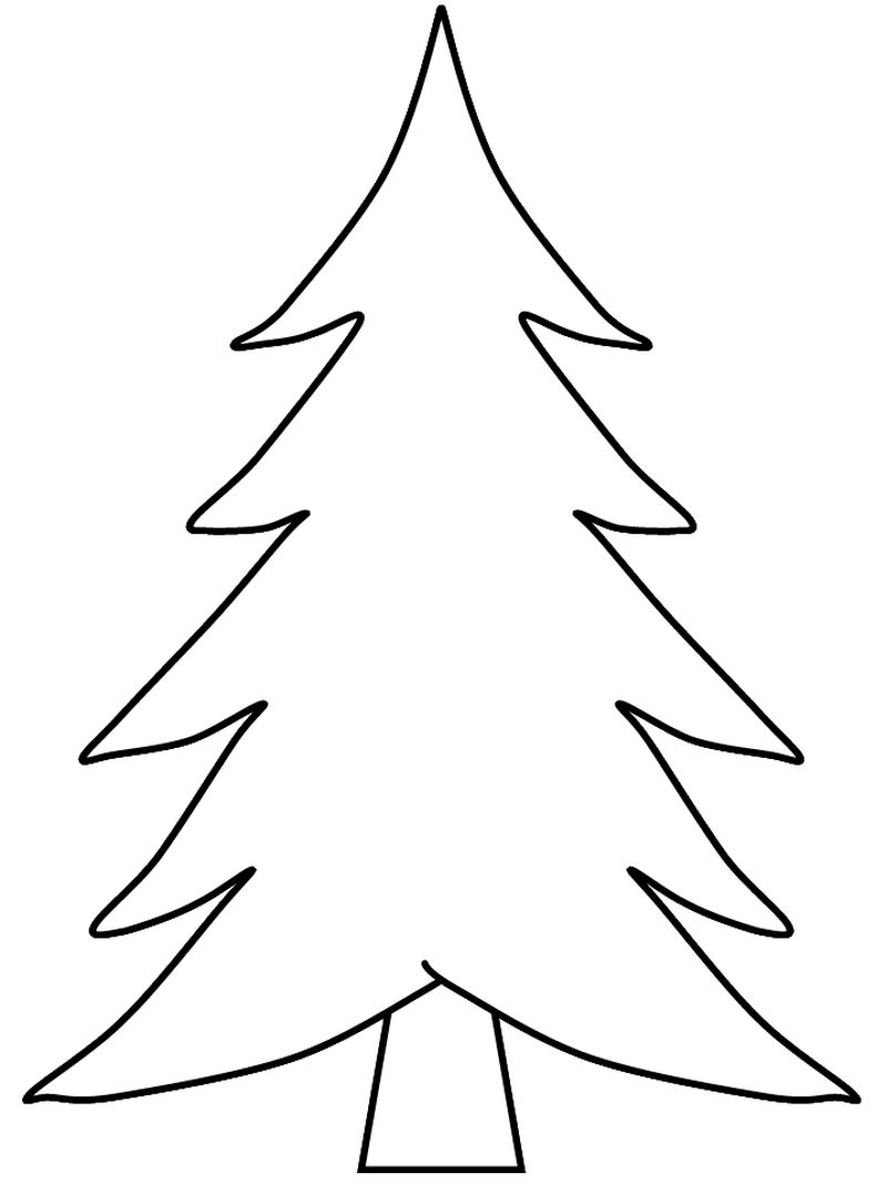Christmas Tree Coloring Pages For Toddlers