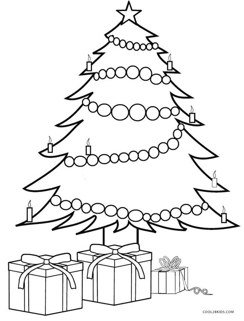 Christmas Tree Coloring Pages Printable Free