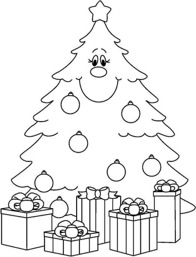 Christmas Tree Colouring In Pages