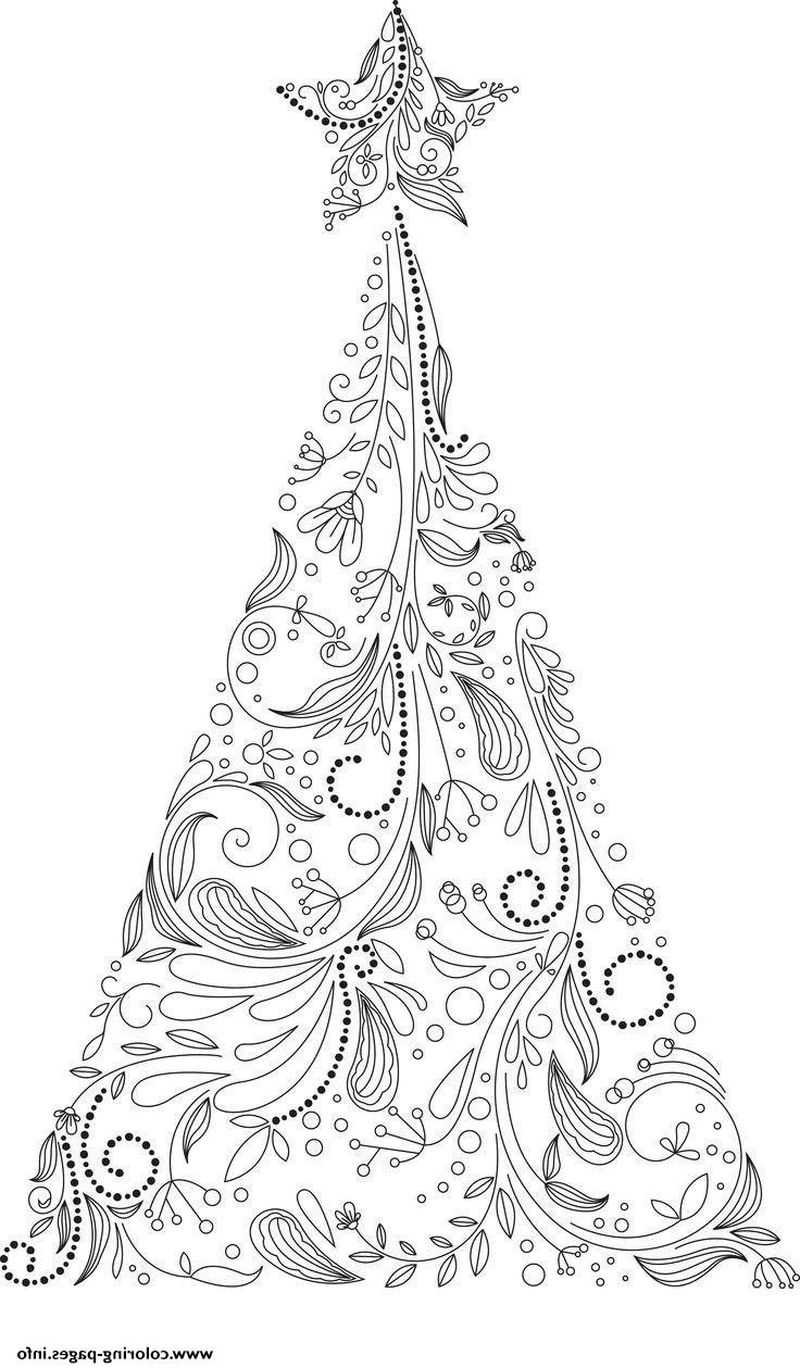 Christmas Tree Colouring In Sheets