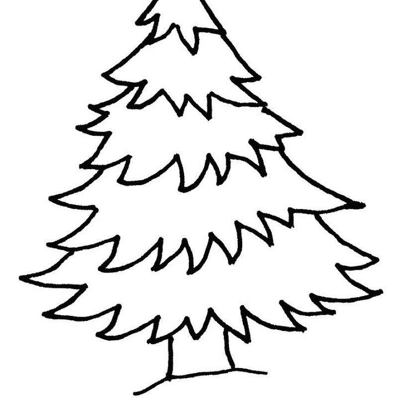 Christmas Tree Colouring Pages For Adults
