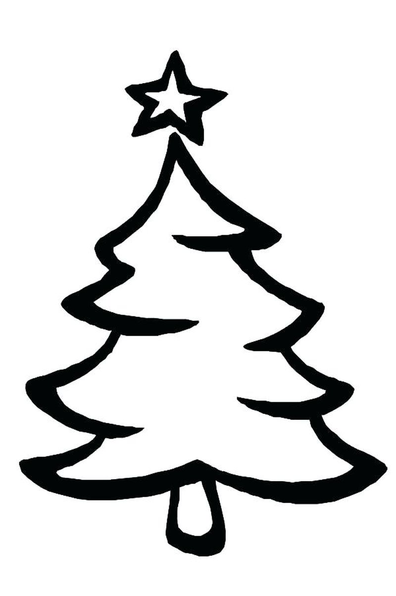 Christmas Tree Colouring Pages Free