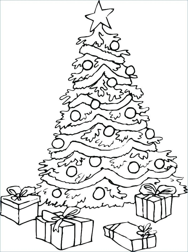 Christmas Tree Colouring Pages Online