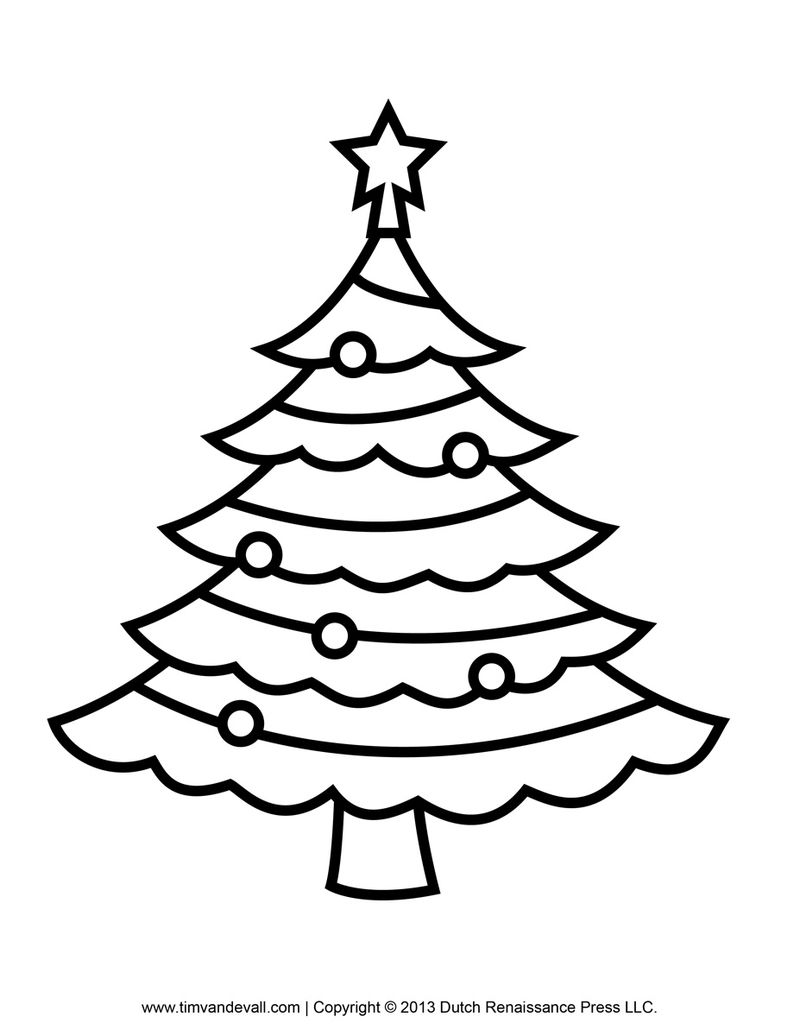 Christmas Tree Colouring Pages Pdf