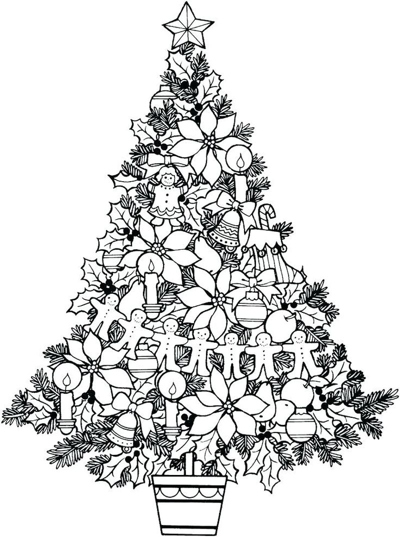 Christmas Tree Colouring Pages Printable