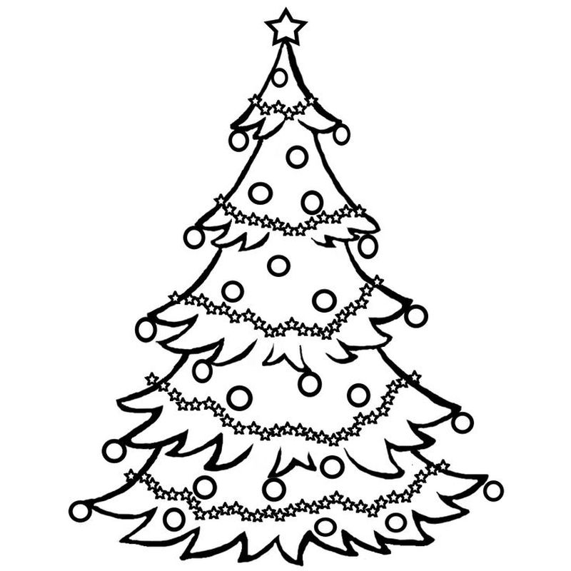 Christmas Tree Colouring Pages Twinkl