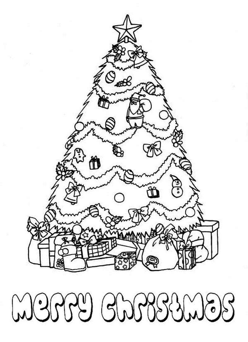 Christmas Tree Decorations Coloring Pages