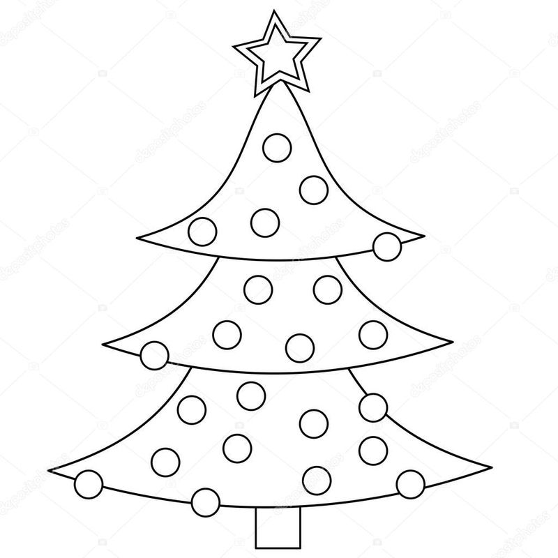 Christmas Tree Images Coloring Pages