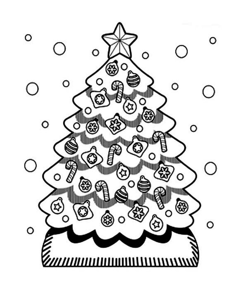 Christmas Tree Lights Coloring Pages