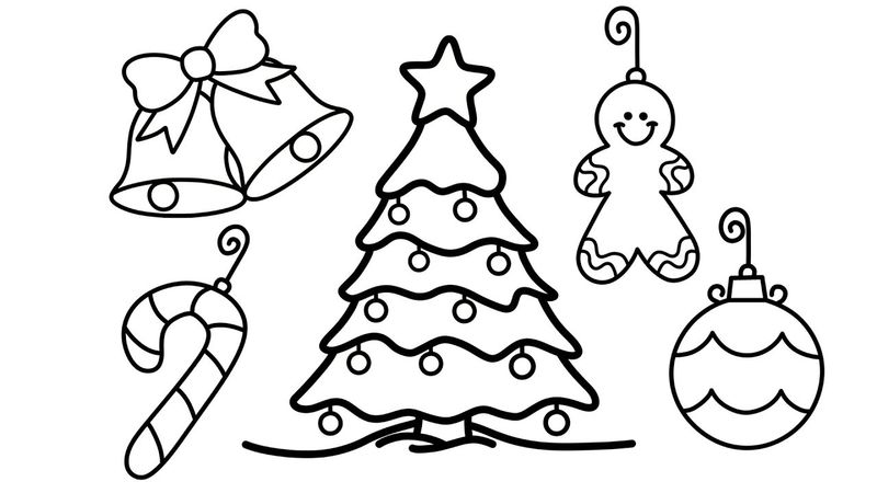 Christmas Tree With Gifts Coloring Pages