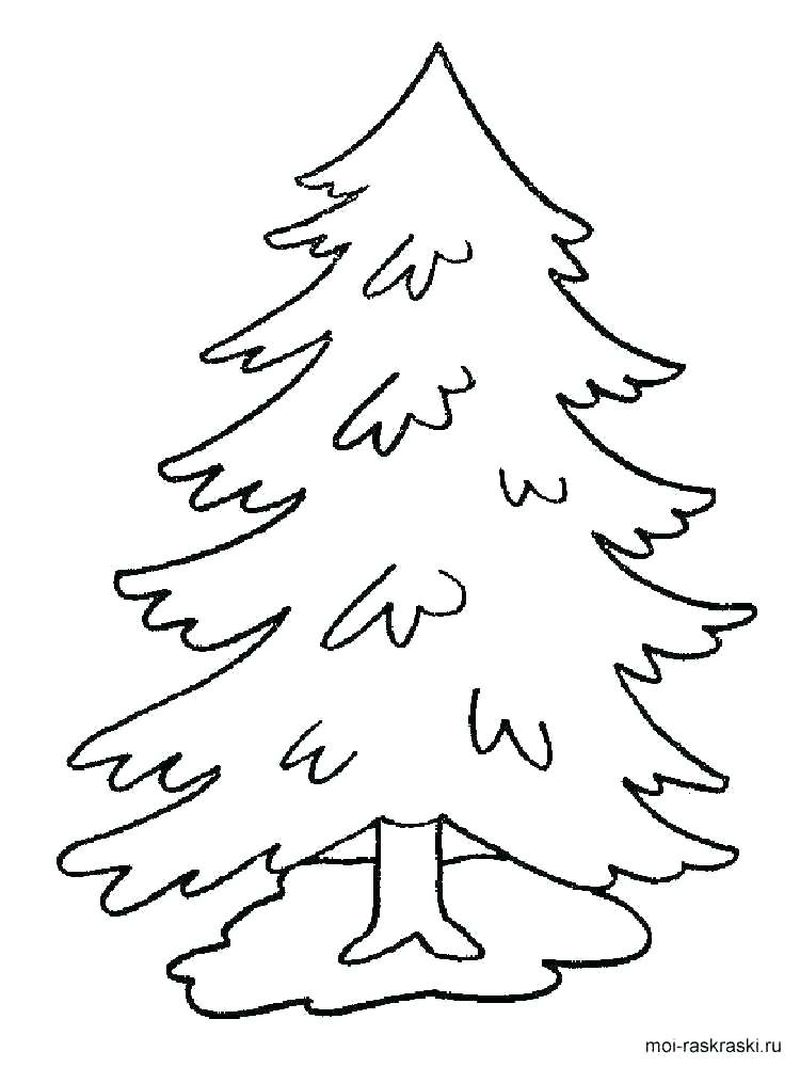 Christmas Tree With Ornaments Coloring Pages