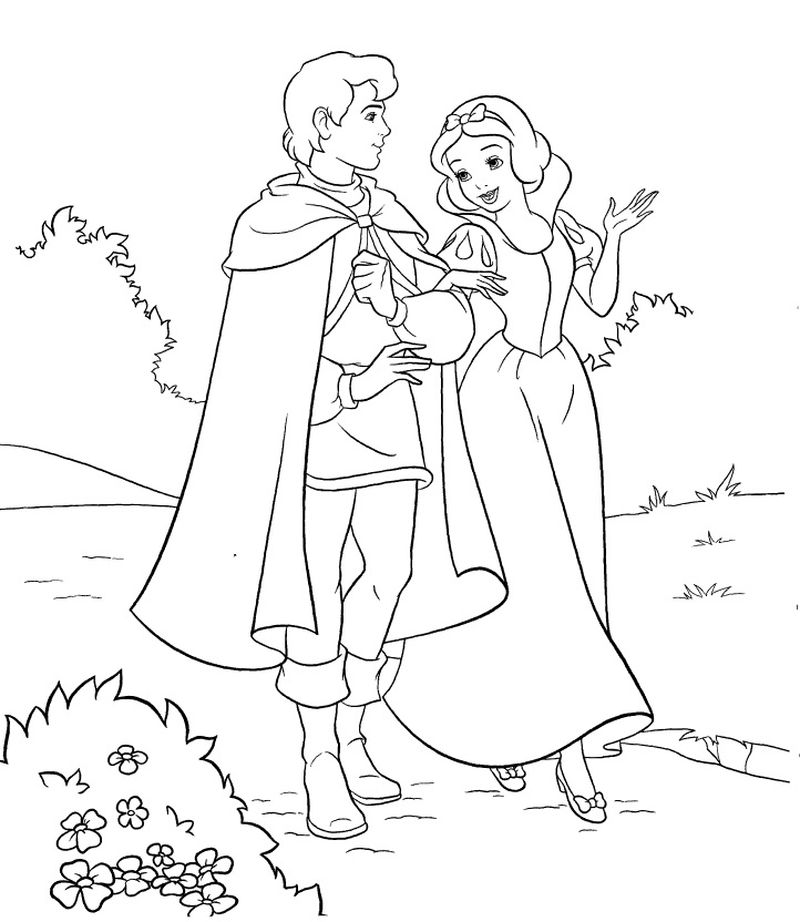 Cinderella And Snow White Coloring Pages