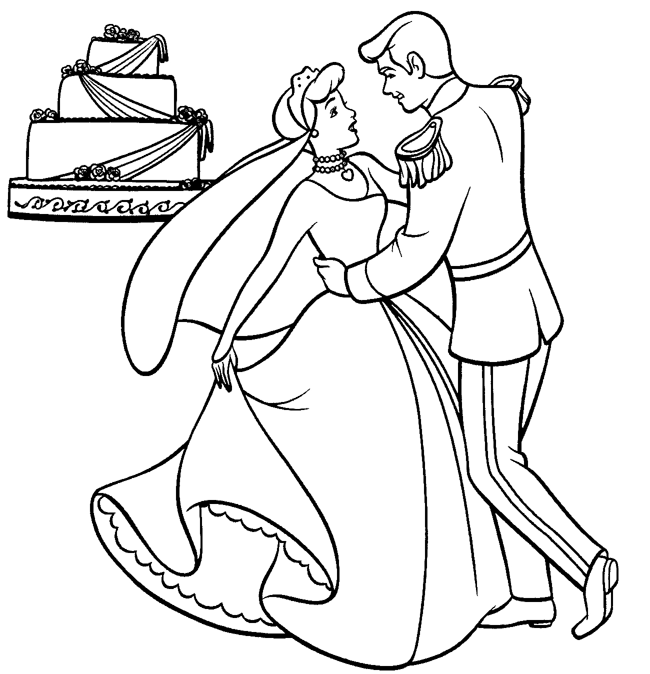 Cinderella Coloring Pages Free Online