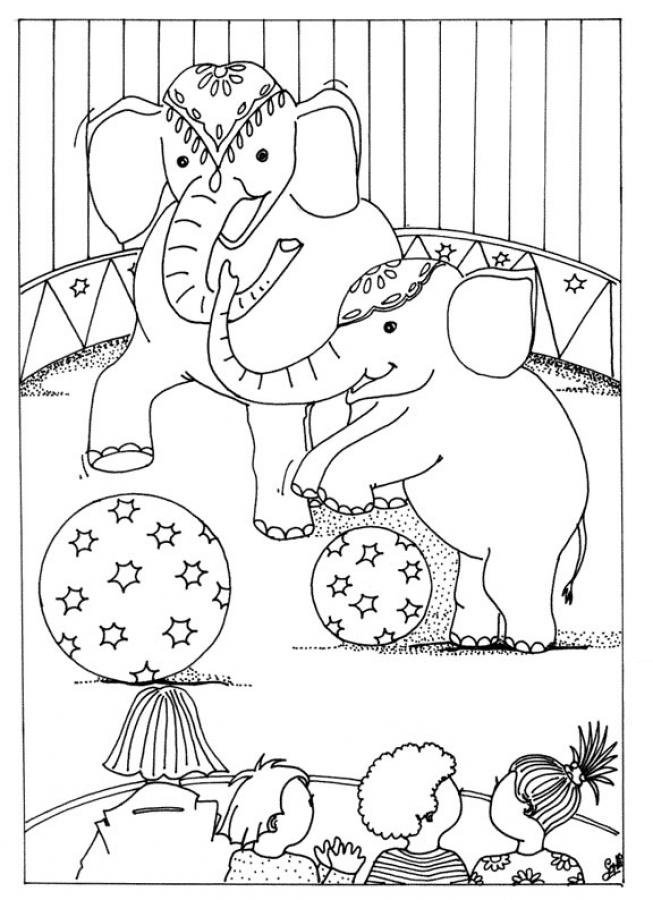 Circus Act Coloring Pages
