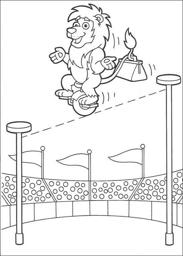 Circus Animals Coloring Pages Free
