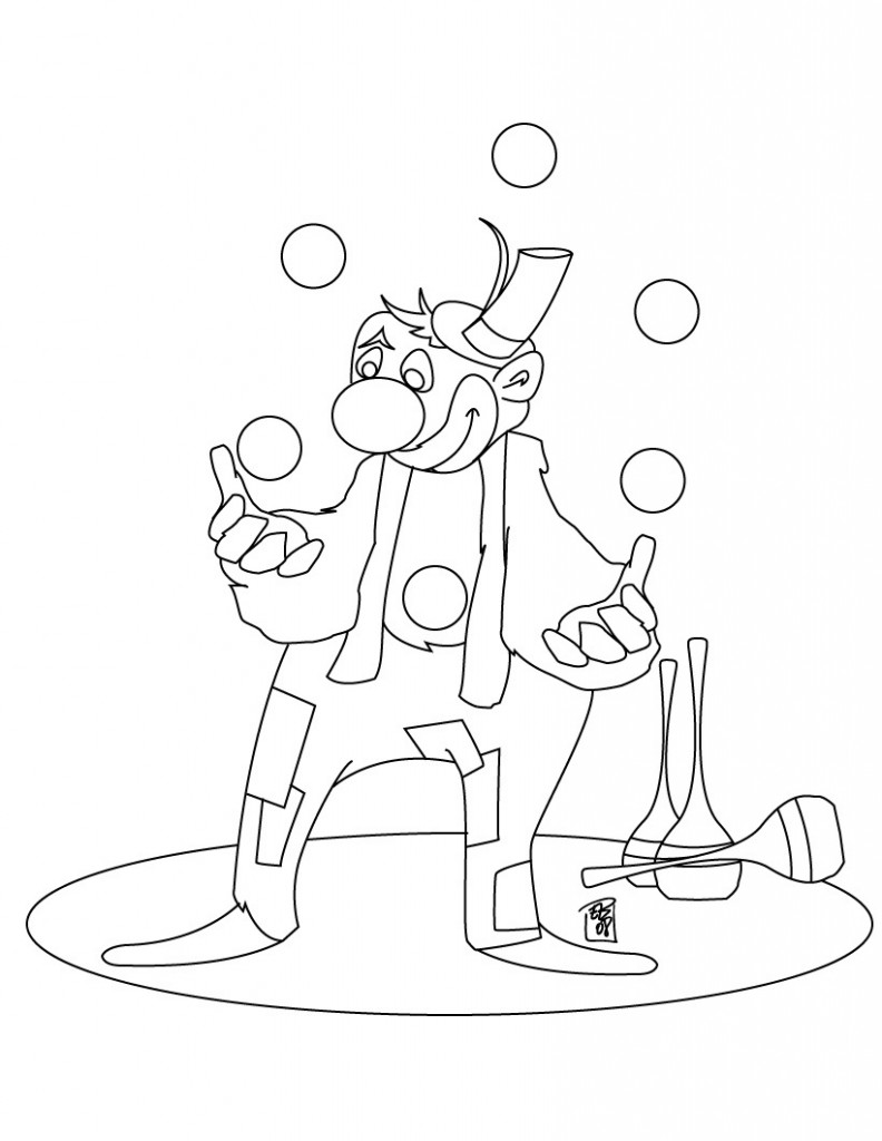 Circus Baby Minecraft Coloring Pages