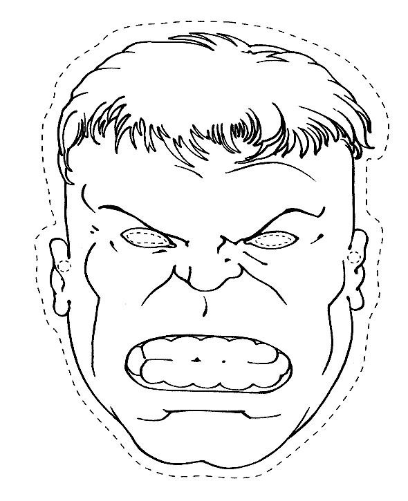 Classic Hulk Coloring Pages